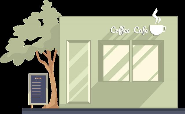 Coffee Shop Building Facade Cafe  - YAYAYORE / Pixabay